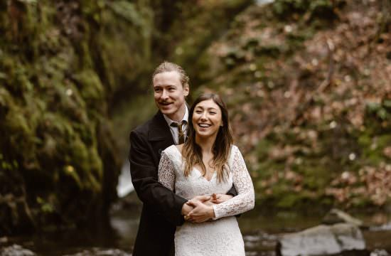 Washington Portland waterfall elopement from Colorado elopement photographer