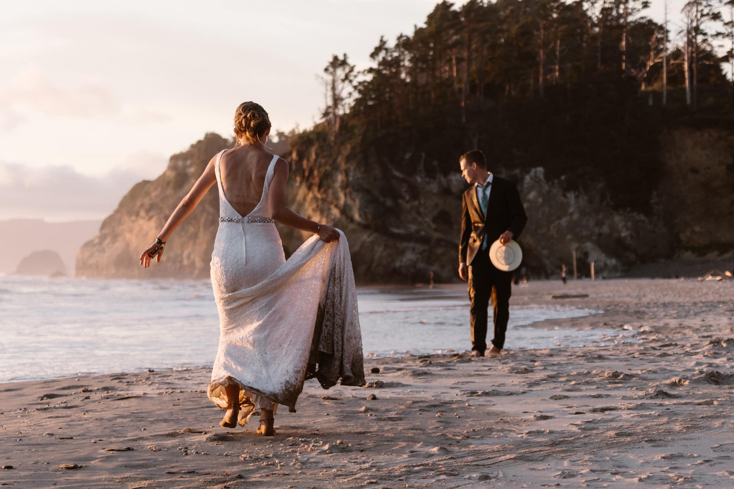 Hug Point Oregon Coast Elopement