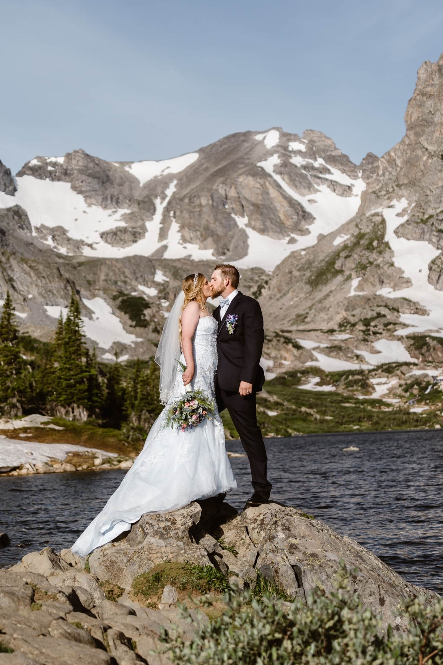 Lake Isabelle Colorado Sunrise Elopement