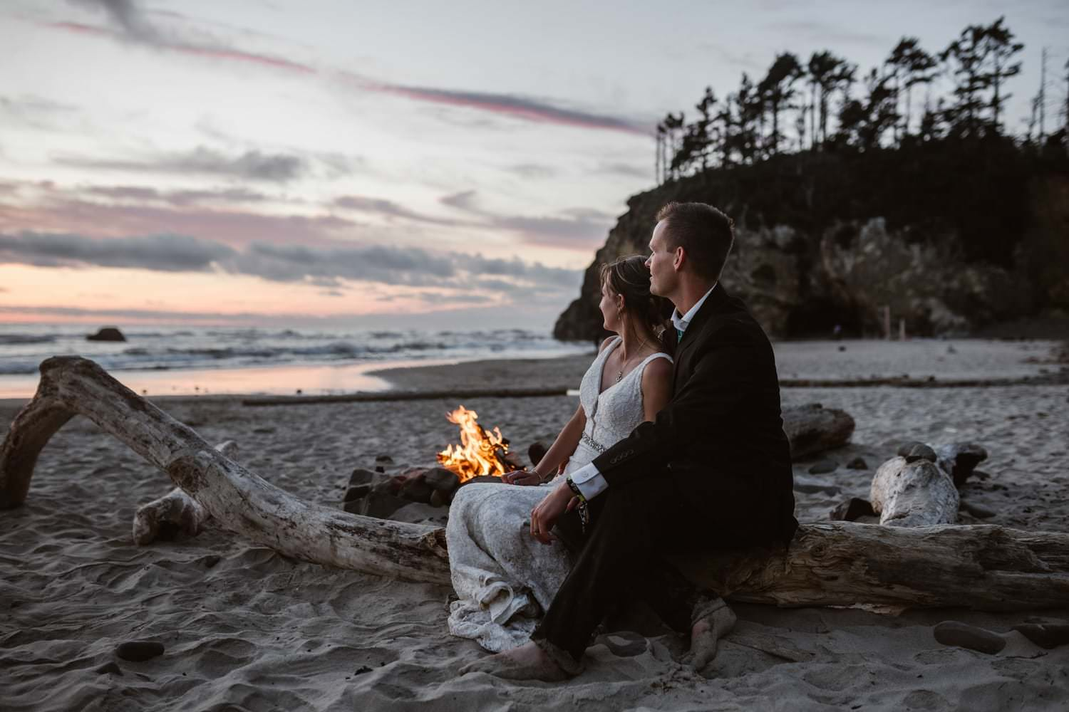Cannon Beach Bonfire Elopement