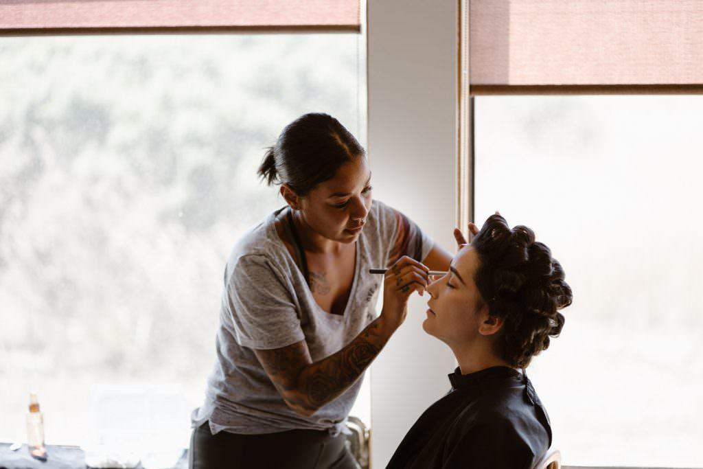 Hair and Makeup Big Sur Elopement