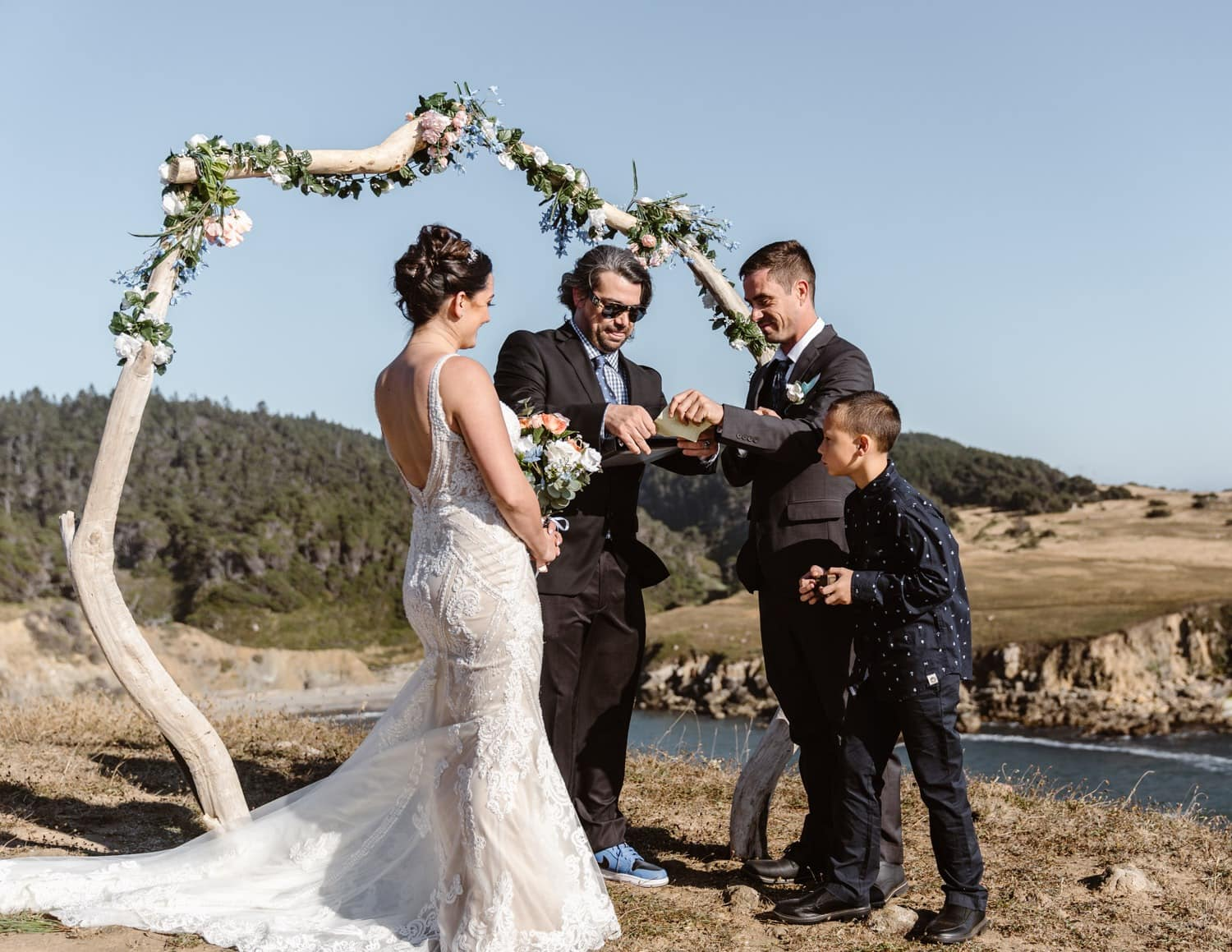 Bride and Groom in Big Sur Elopement