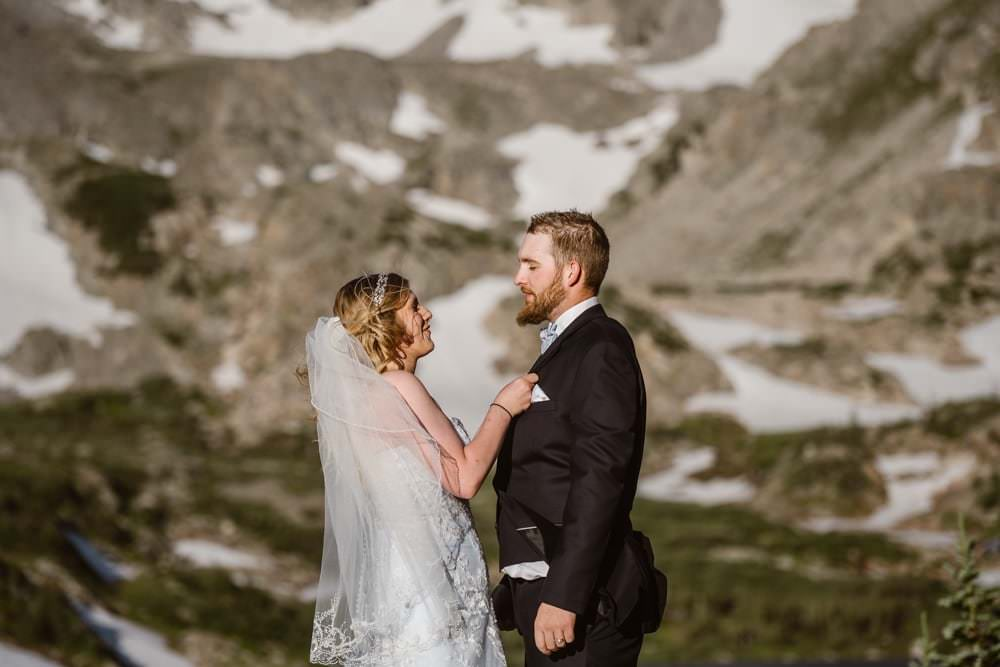 Bride and Groom at Colorado Adventure Elopement