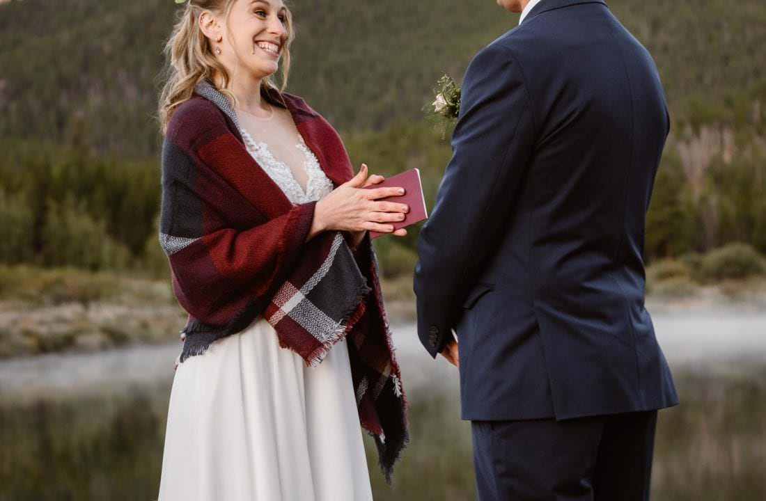 Vow Ceremony Rocky Mountain National Park Elopement