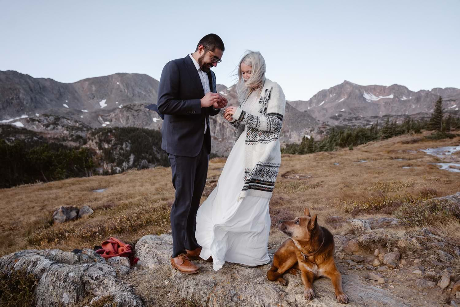 Ring Exchange Colorado Photographer Hiking Adventure Elopement