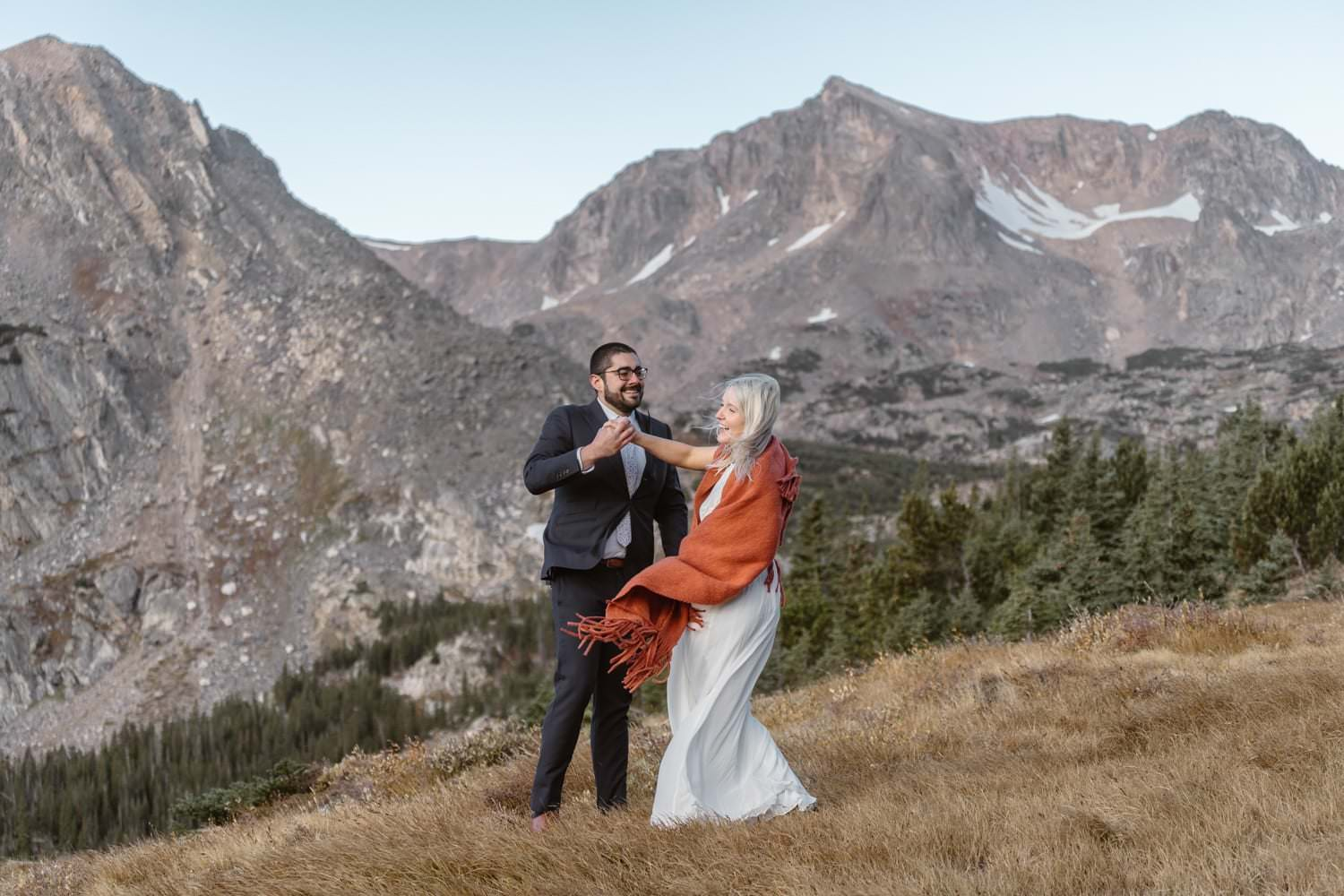 First Dance Colorado Photographer Hiking Adventure Elopement