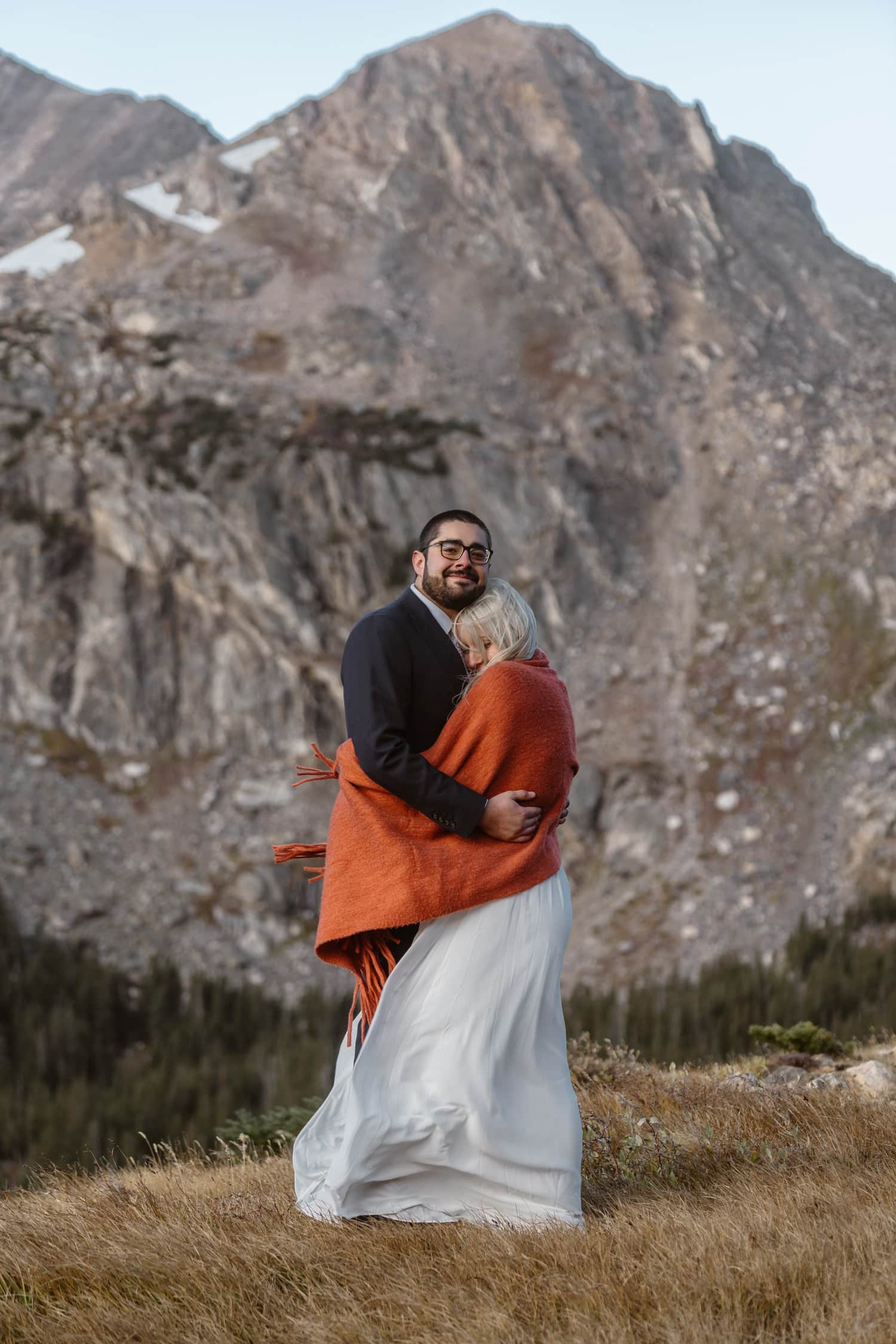 Bride and Groom Colorado Photographer Hiking Adventure Elopement