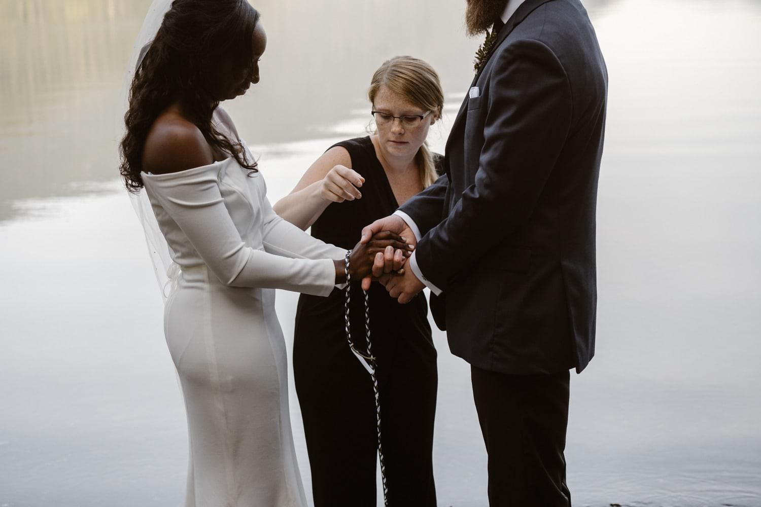 Cord Ceremony Olympic National Park Elopement