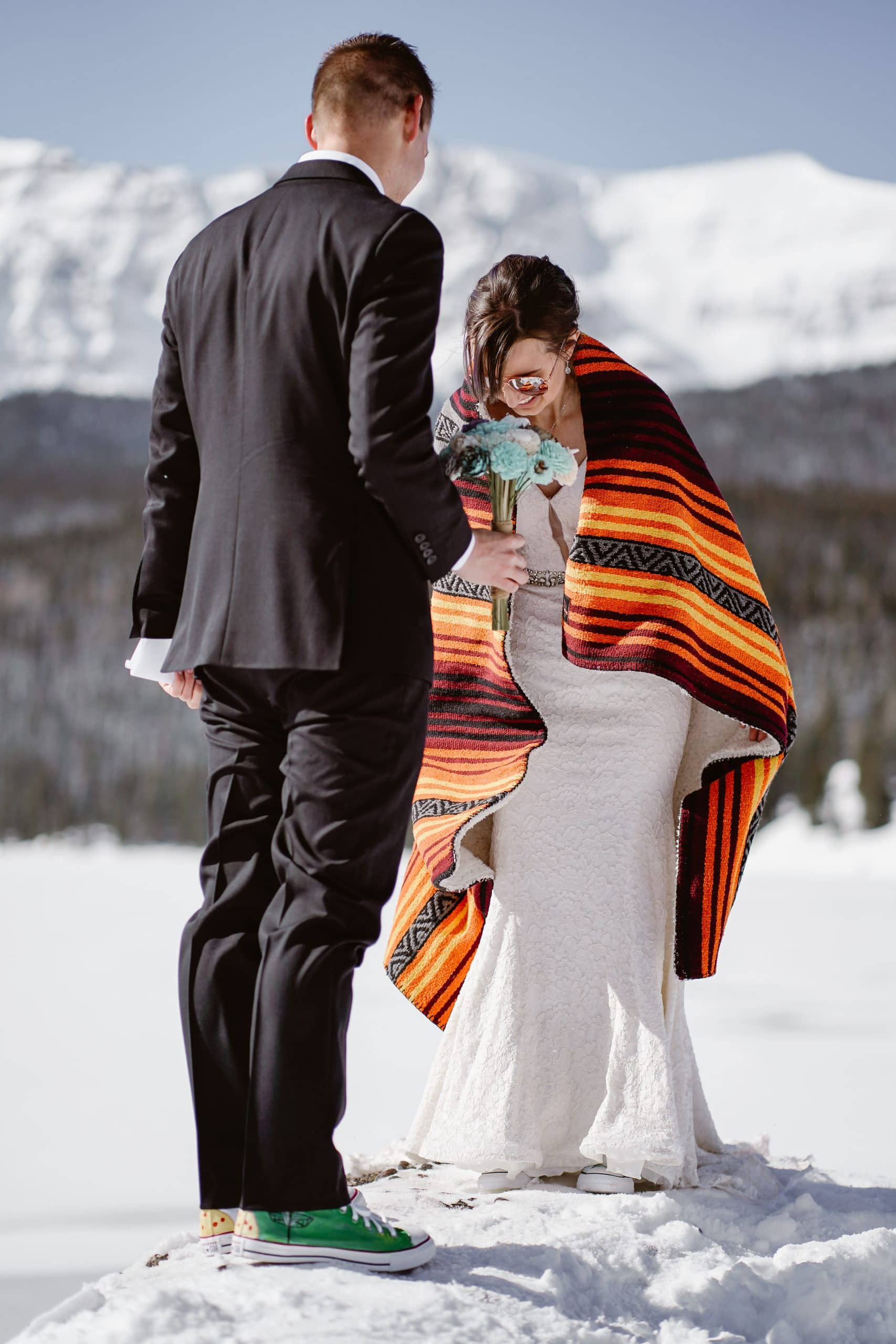 Bride and Groom Telluride Elopement