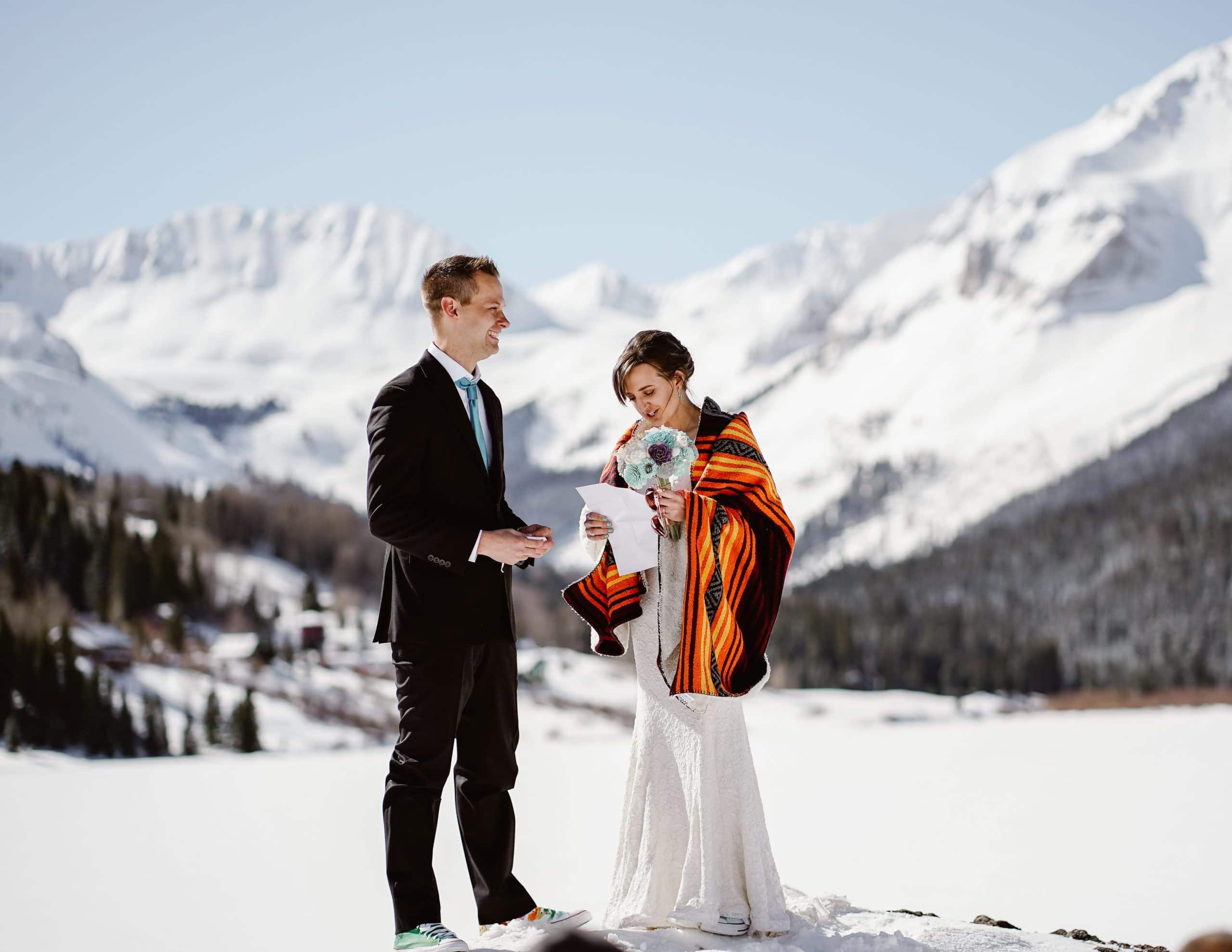 Vow Exchange Telluride Elopement