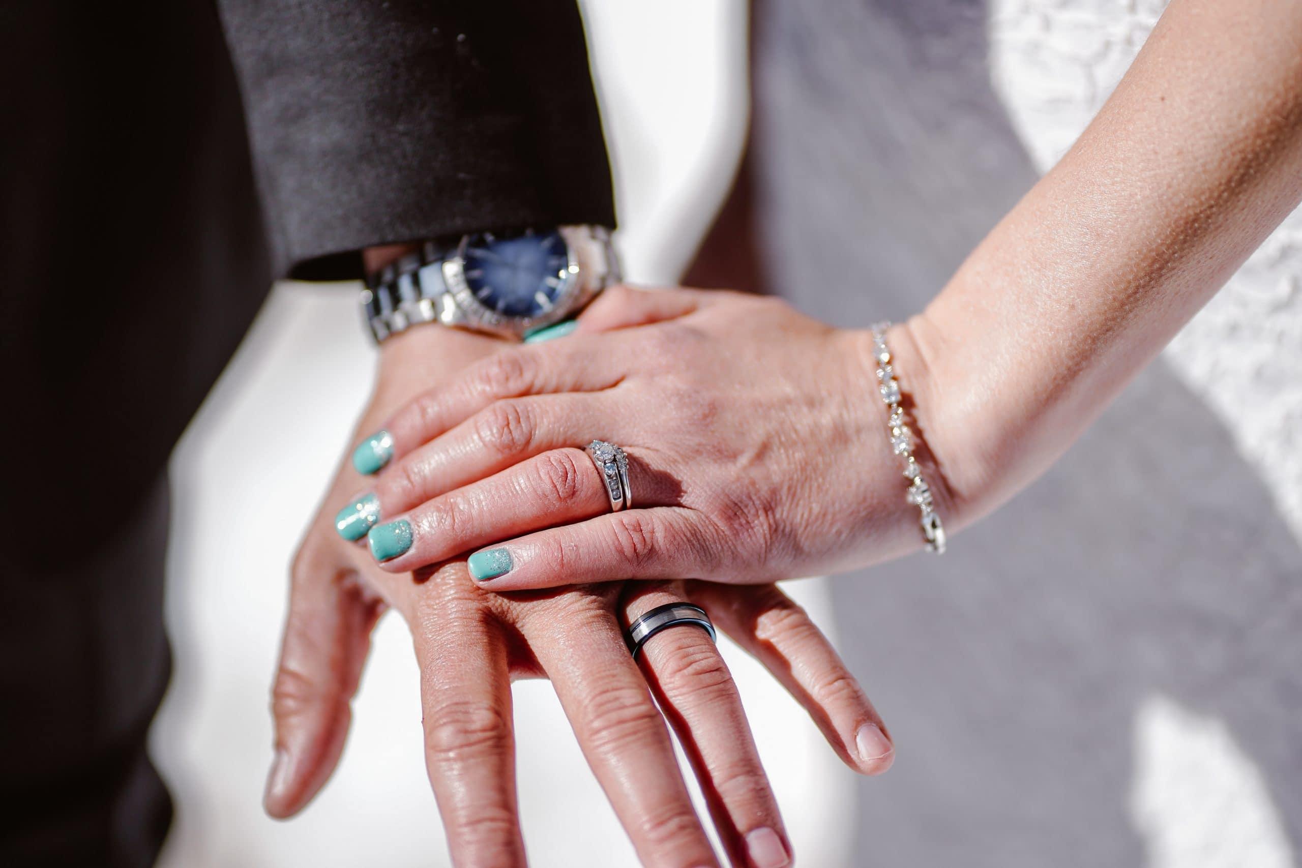 Bride and Grooms Rings Telluride Elopement