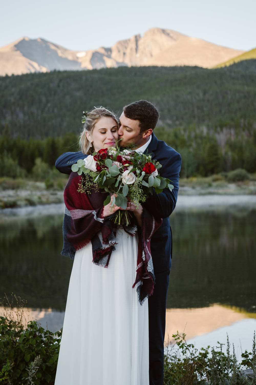 Elopement Definition Rocky Mountain National Park Bride and Groom