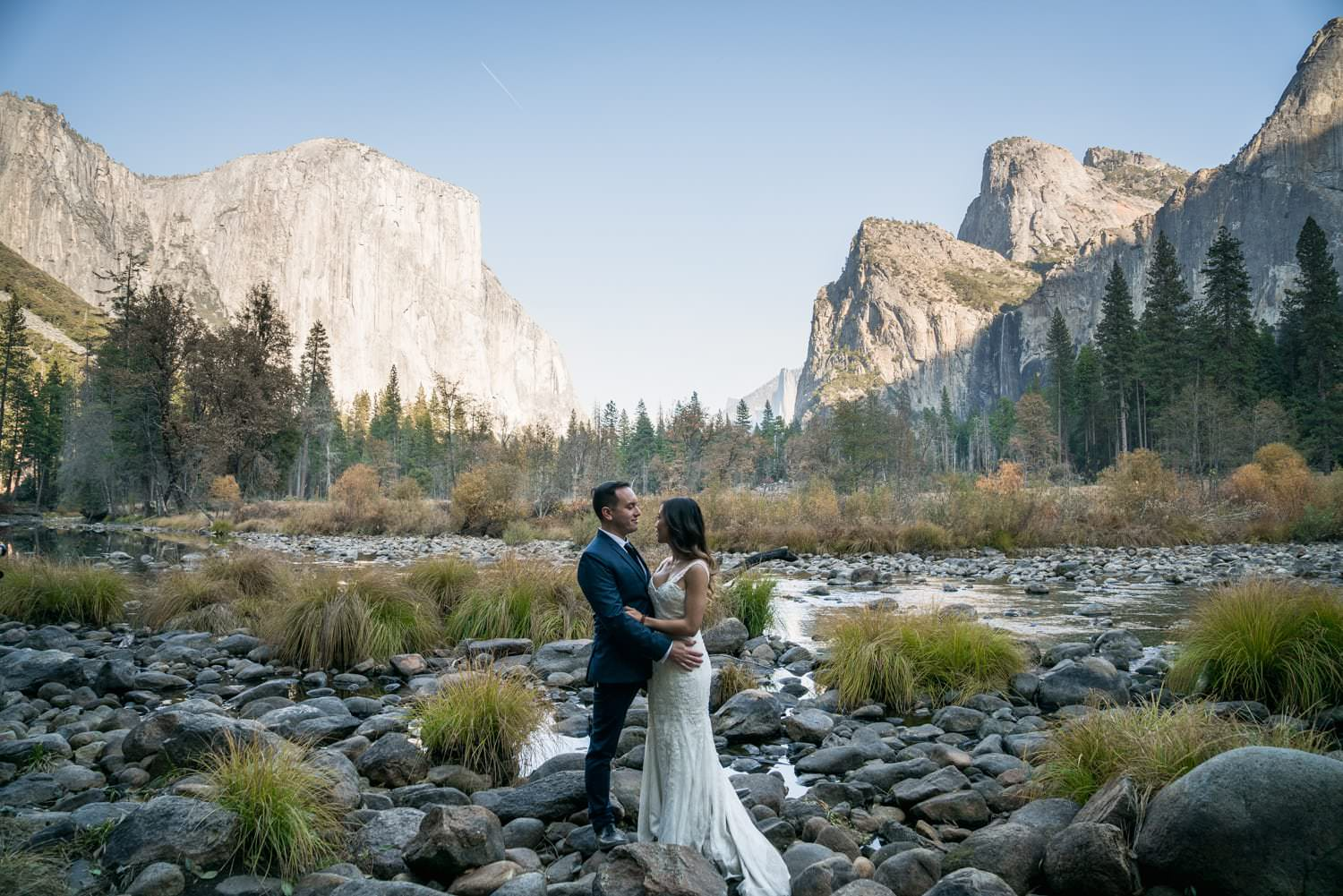 Bride and Groom Yosemite Valley Elopement