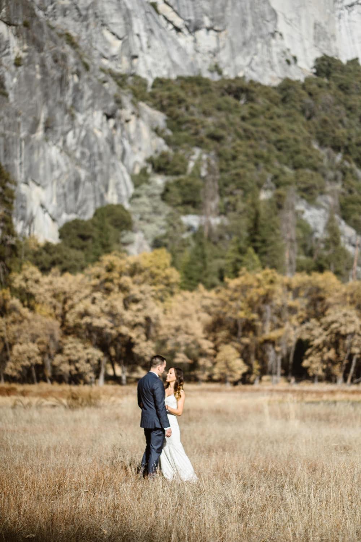 Bride and Groom Dancing Yosemite Valley Elopement