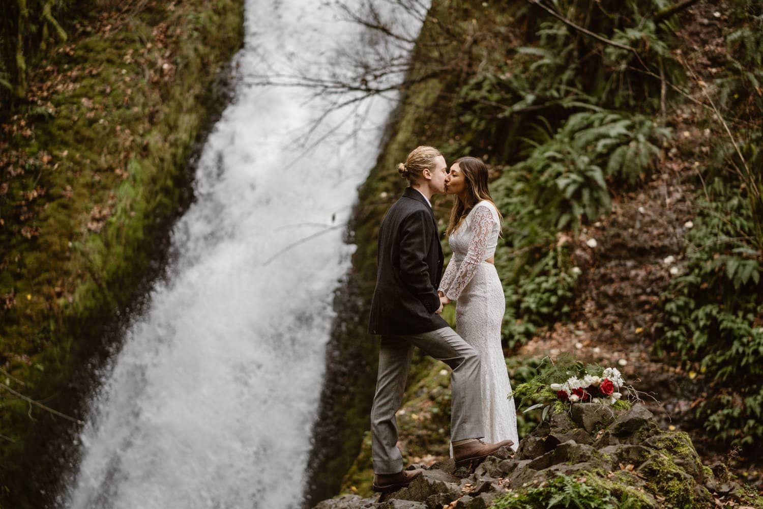 Bride and Groom First Kiss Ceremony