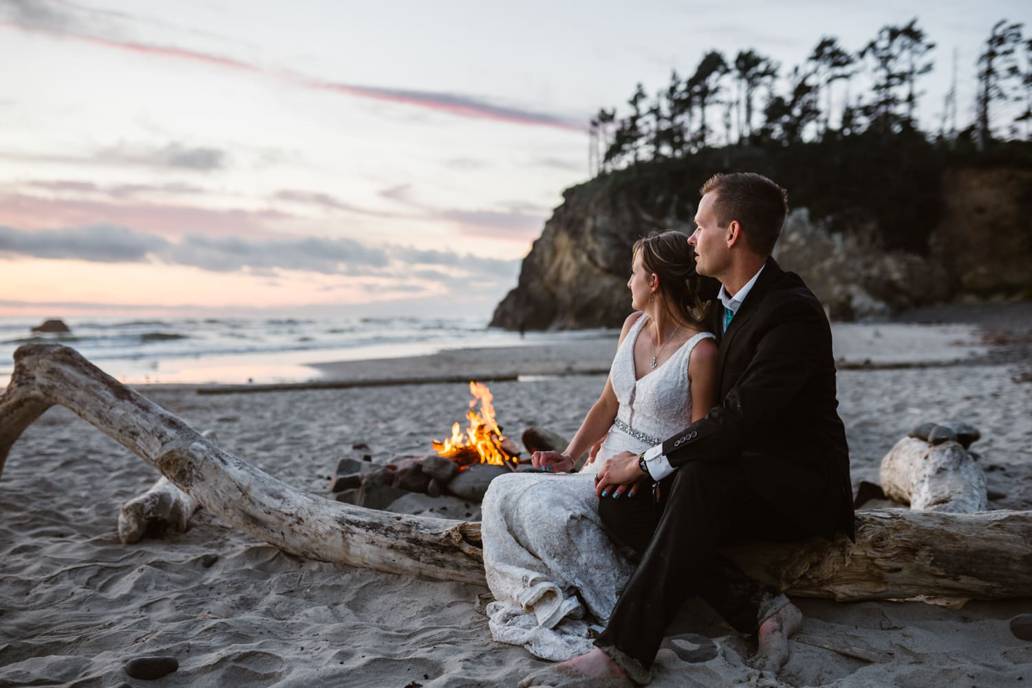 Bride and Groom Bonfire Ceremony