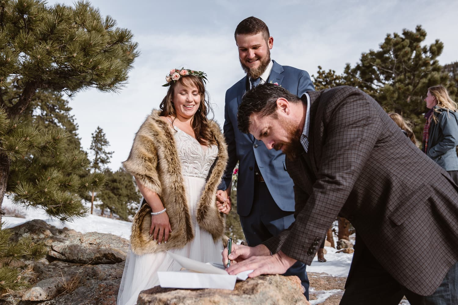 Eloping With Family - Estes Park Elopement