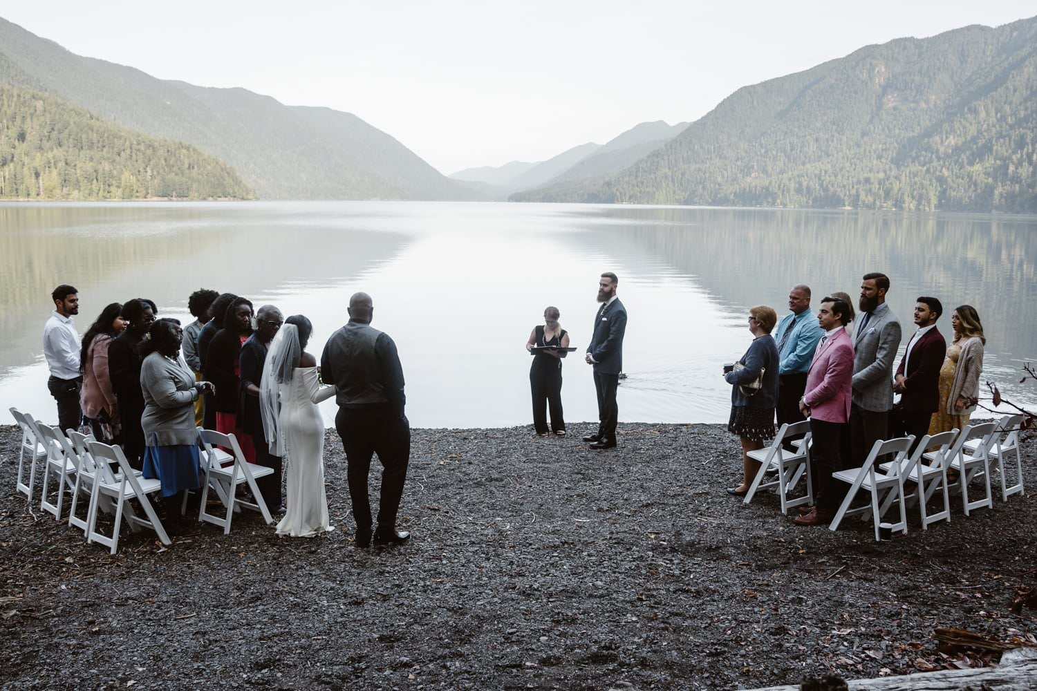 Eloping With Family - Olympic National Park Family Elopement