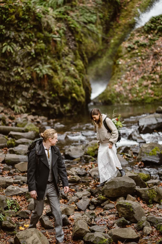 Announcing Your Elopement - Oregon Waterfall Elopement