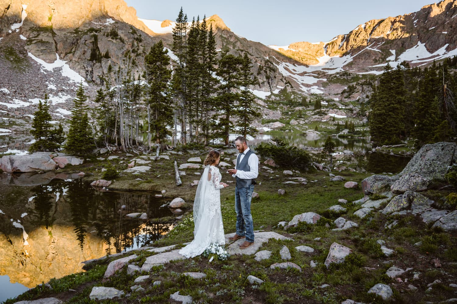 Vow Ceremony Backpacking Wedding Elopement