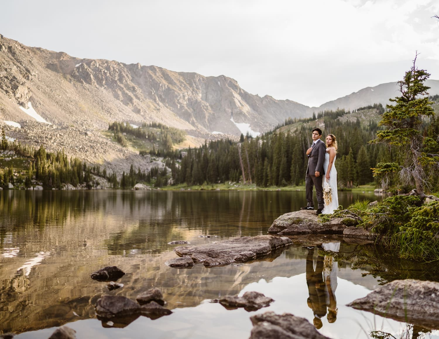 Bride and Groom Colorado Mountain Elopement Packages
