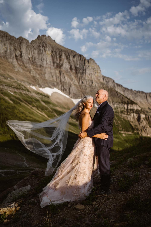 Glacier National Park Elopement Guide & Packages Bride & Groom