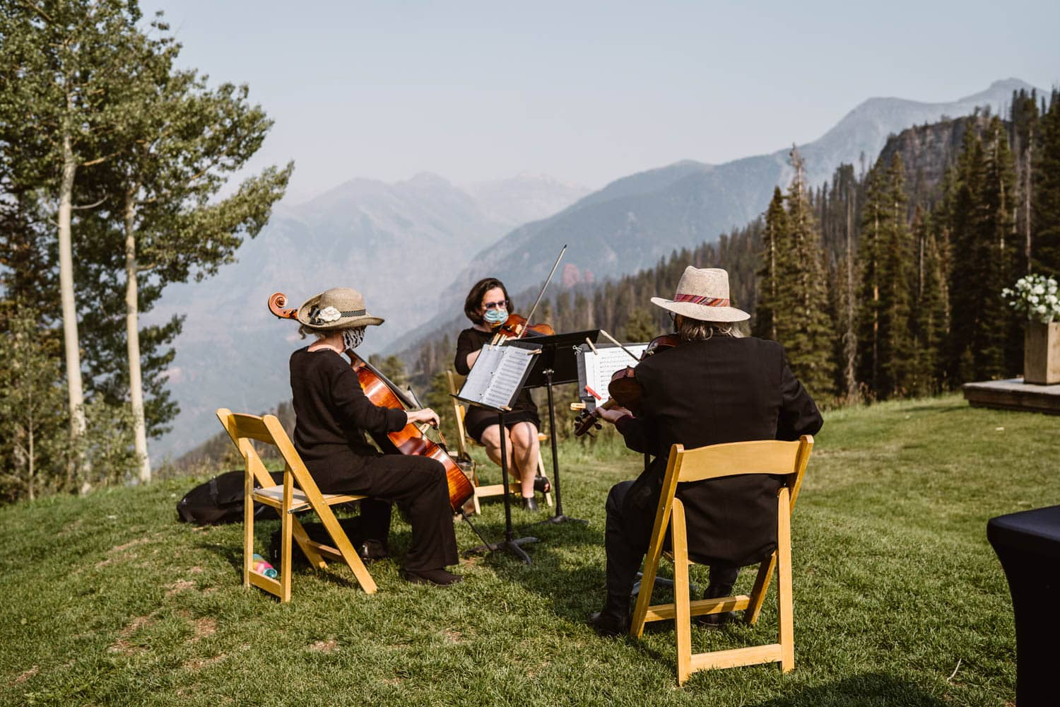 Musicians Bride With Dog Colorado AirBnb Elopement Guide