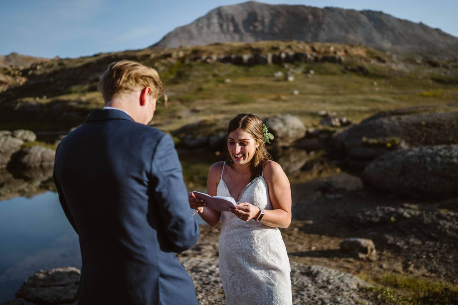 Couple Vow Exchange Ouray Colorado Elopement