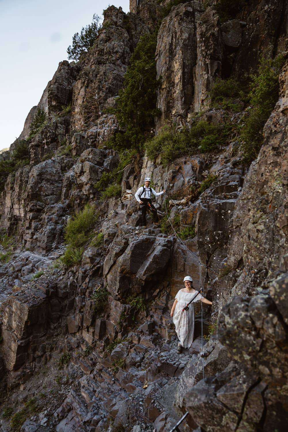 Bride and Groom Vow Ceremony at Bridal Veil Falls