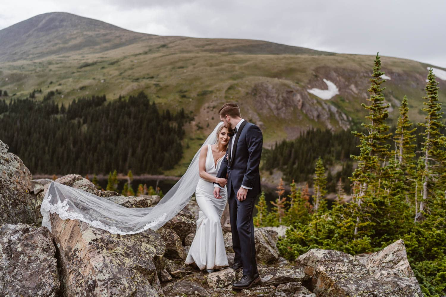 Best Places to Elope in Colorado Bride and Groom