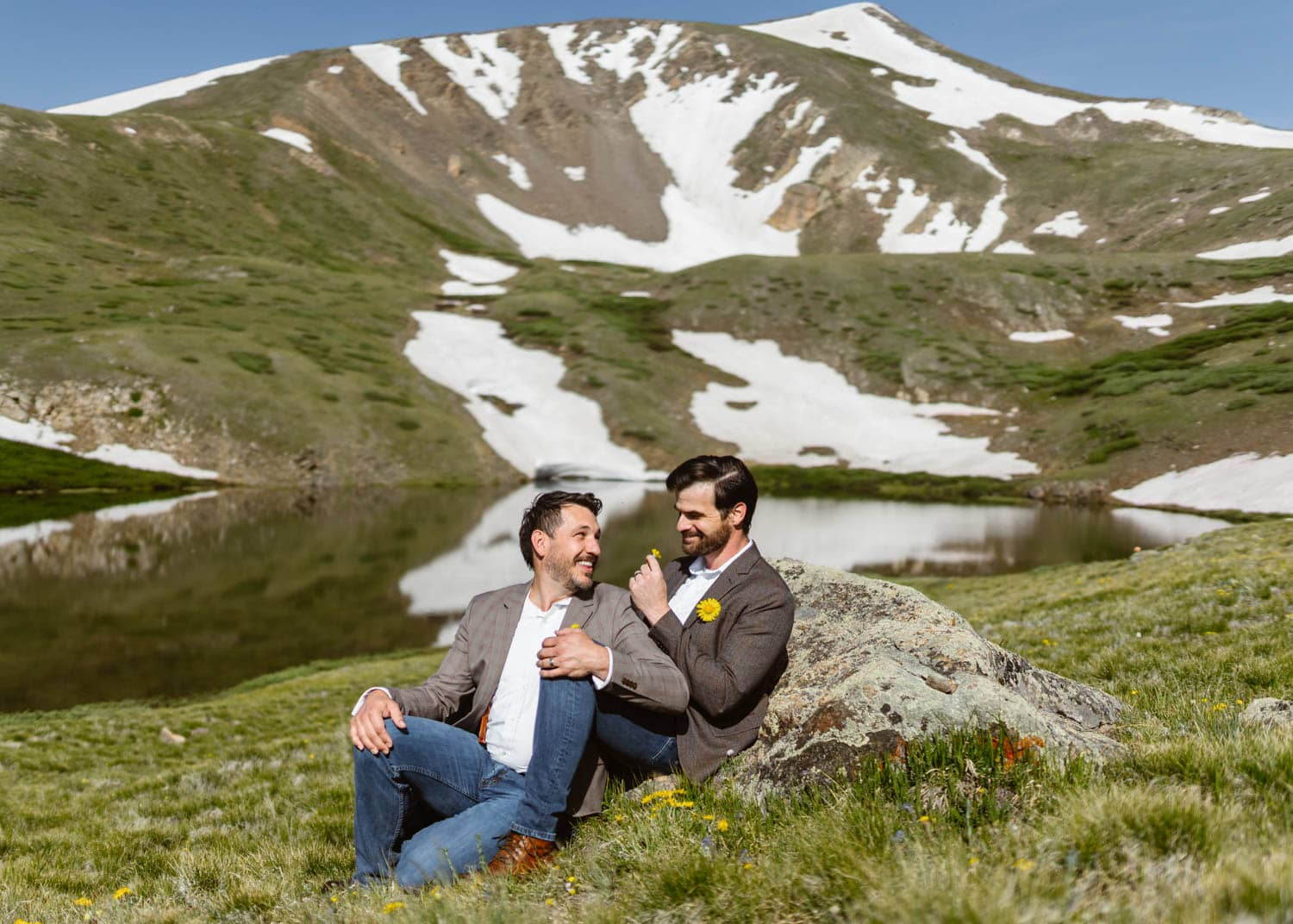 Grooms at Alpine Lake Colorado Elopement Guide and Spots