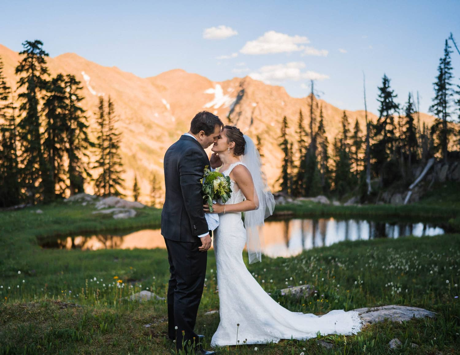 Bride and Groom Breckenridge Elopement Guide and Spots