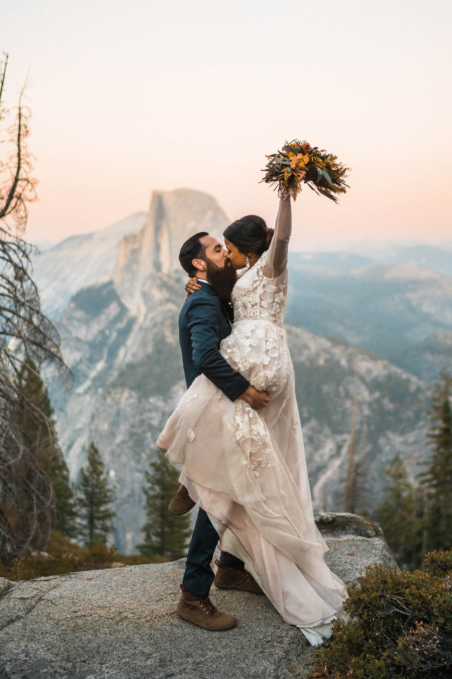 Bride and Groom Yosemite Elopement Guide and Packages