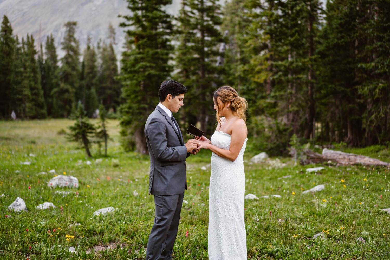 Vow Ceremony Boulder Colorado Elopement