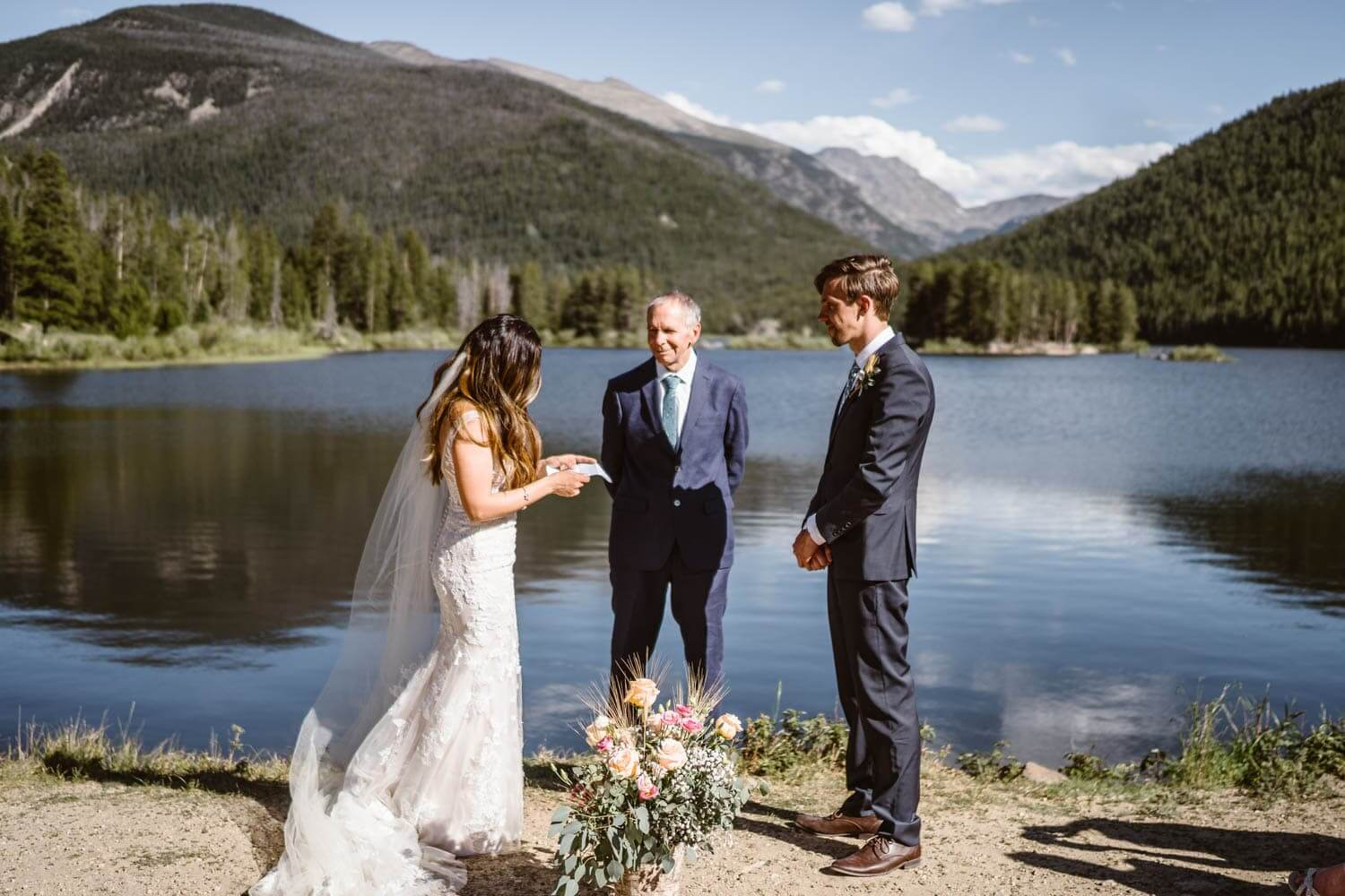 Vow Ceremony Grand Lake Colorado Elopement
