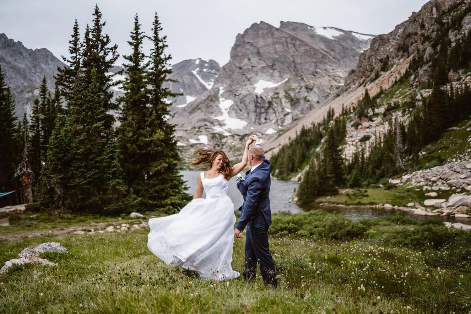 Best Places to Elope in Colorado Lake Isabelle