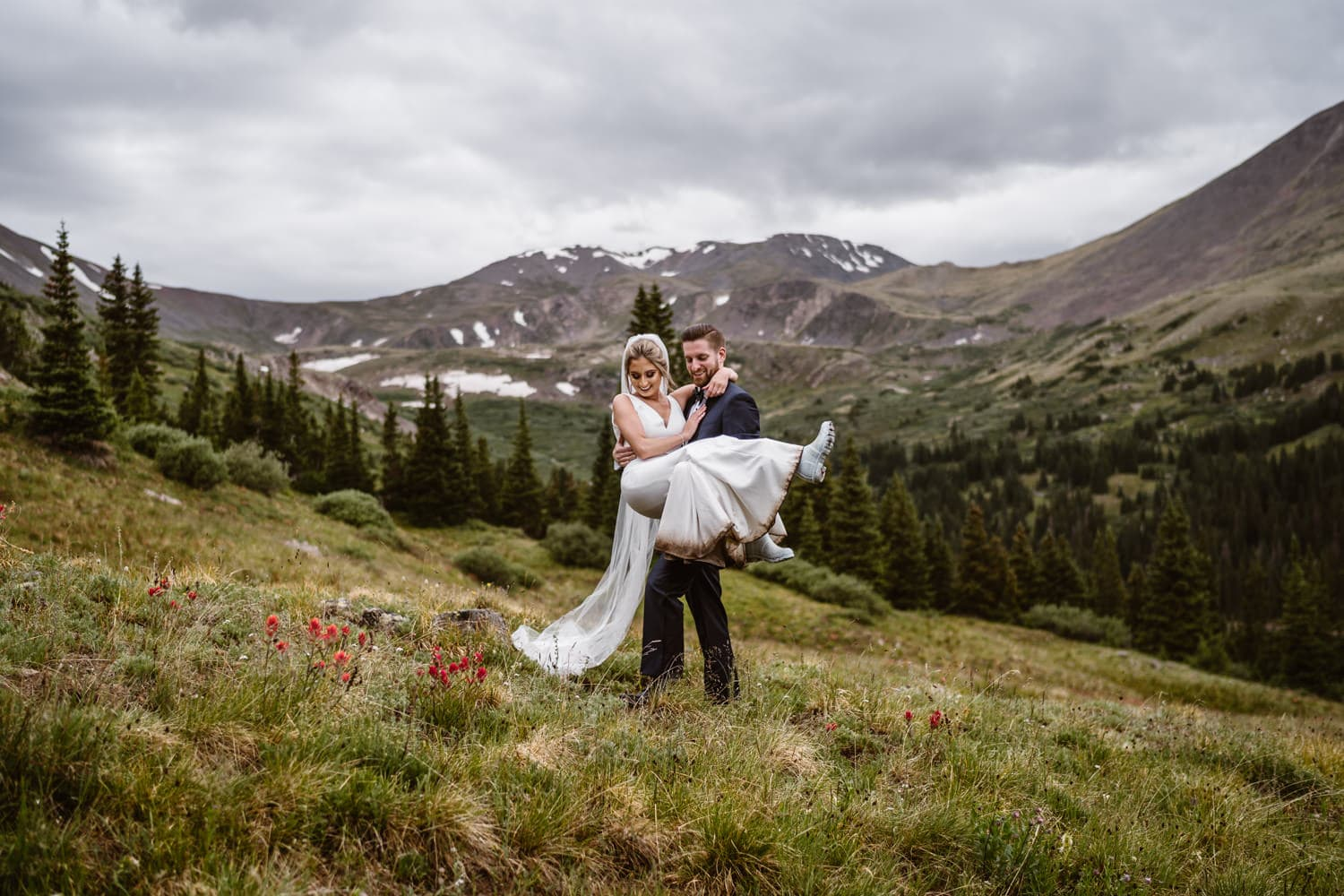 Bride and Groom Dancing at Georgetown, CO Elopement