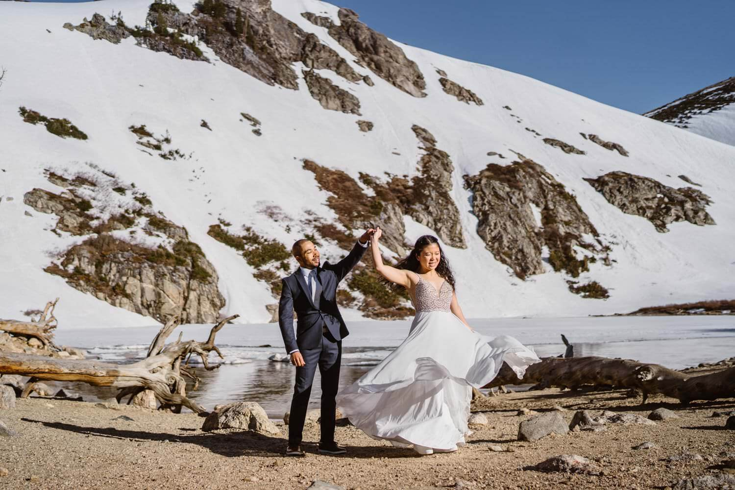 Best Places to Elope in Colorado St Mary's Glacier